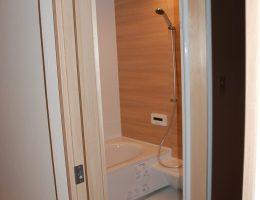 明るくお手入れの楽な最新の浴室に